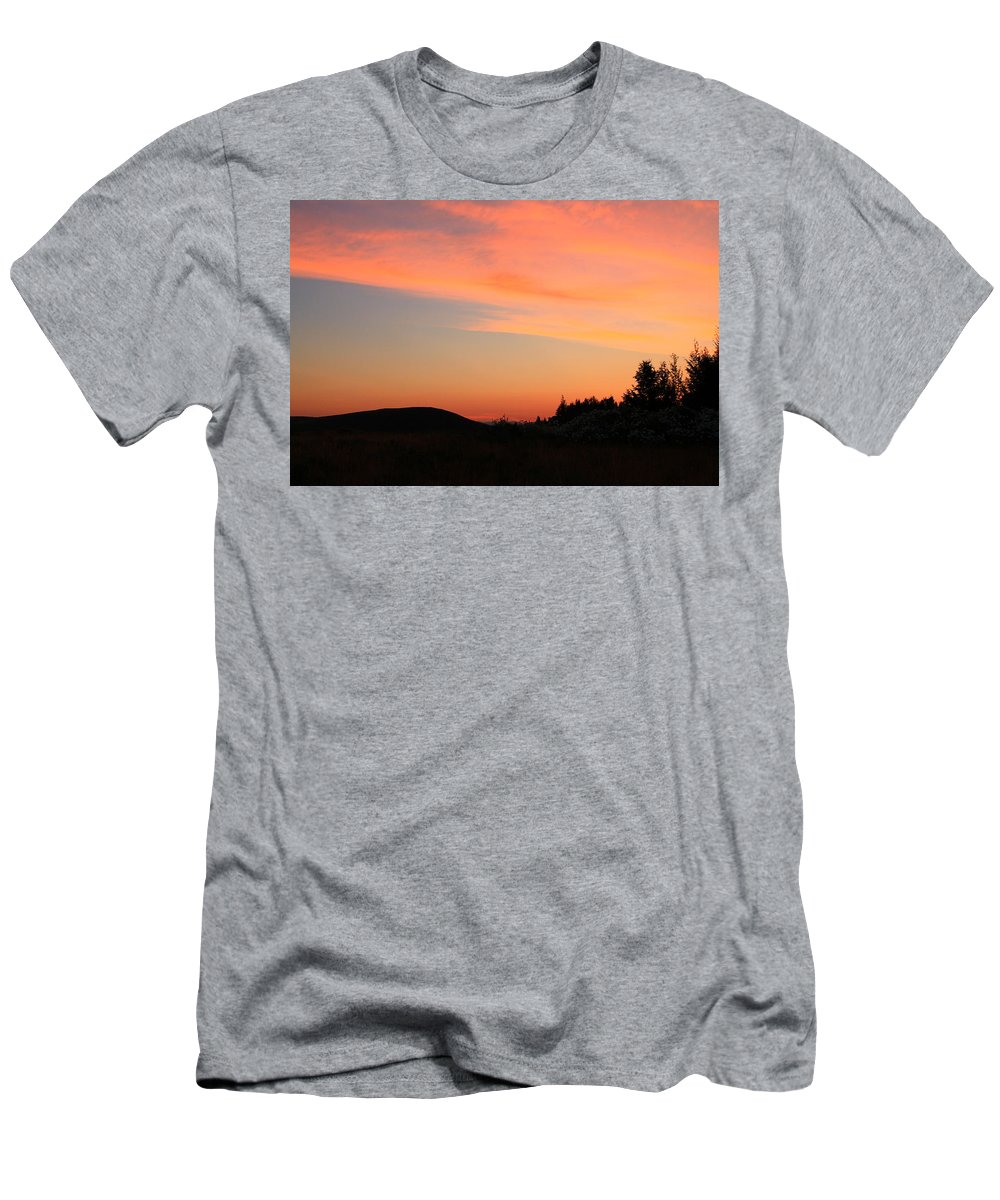 Jackson Hole Men's T-Shirt (Athletic Fit) featuring the photograph Sunrise In Wyoming by Catie Canetti