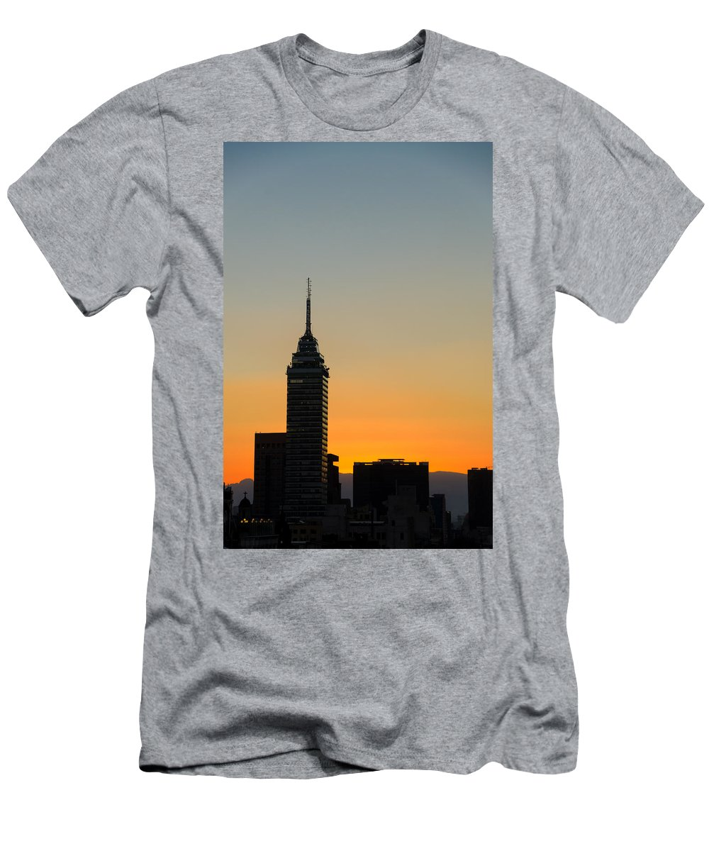 City Men's T-Shirt (Athletic Fit) featuring the photograph Sunset Cityscape by Jess Kraft