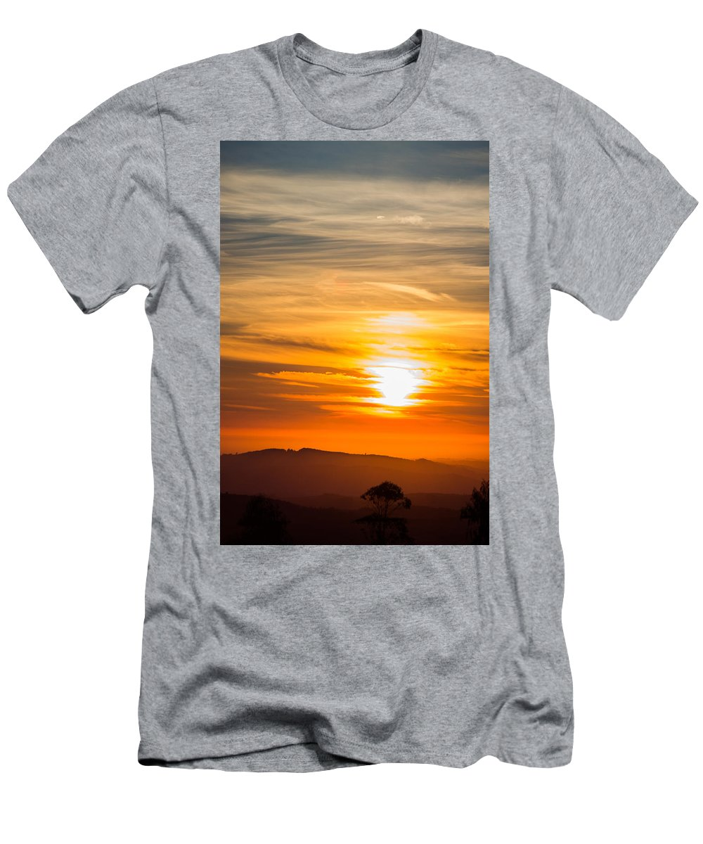 Sunset Men's T-Shirt (Athletic Fit) featuring the photograph Sunset by Ernesto Santos