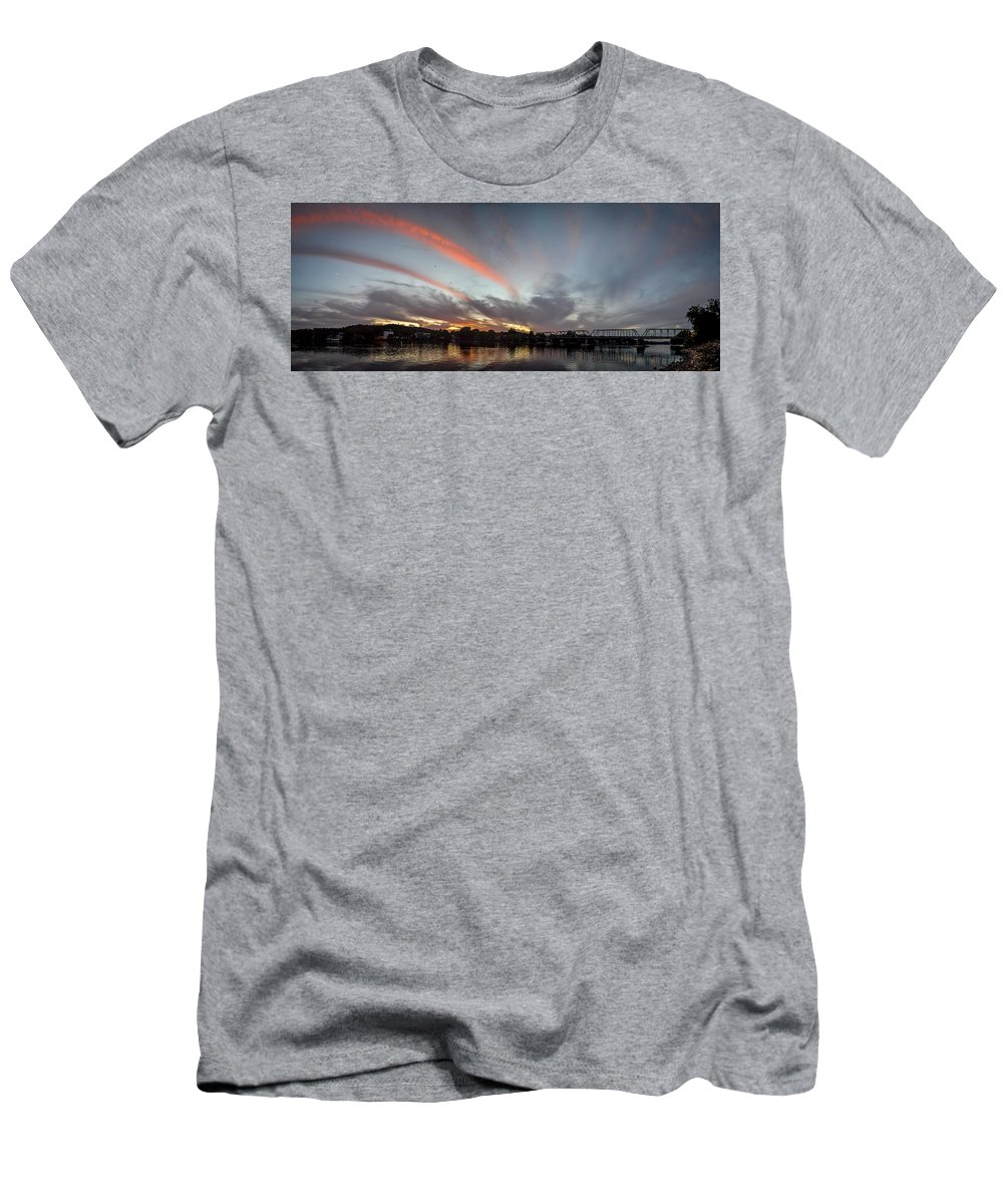 Dusk Over New Hope Men's T-Shirt (Athletic Fit) featuring the photograph Dusk Over New Hope by Michael Brooks