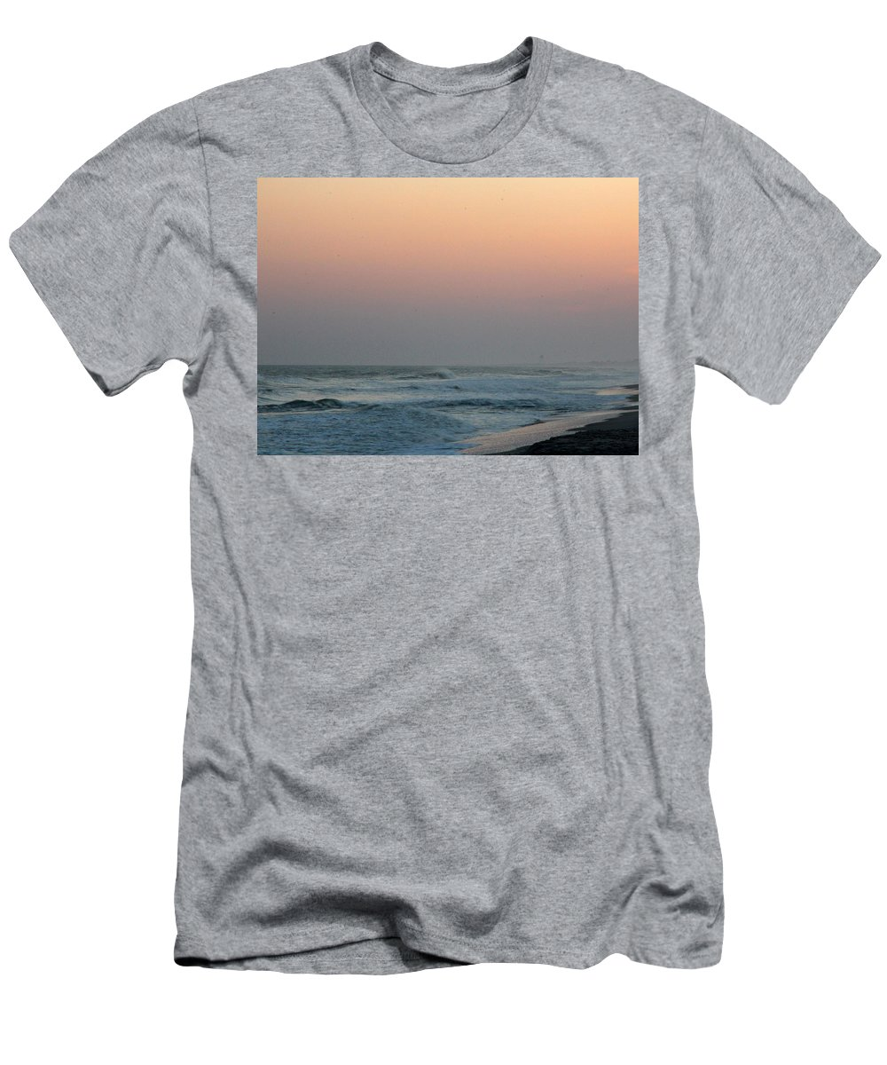 Men's T-Shirt (Athletic Fit) featuring the photograph Surf At Sunset 1 by Rand Wall