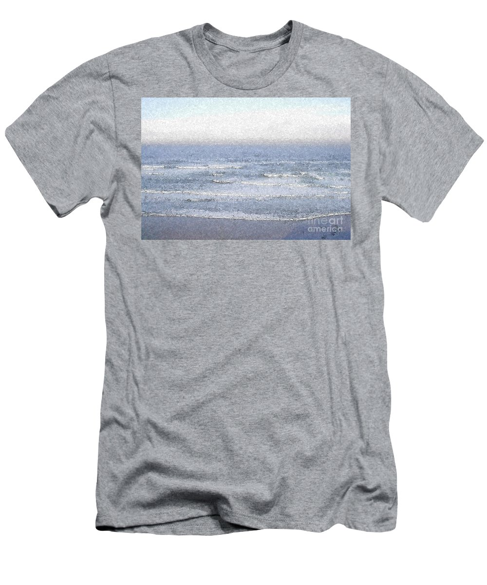 Water Men's T-Shirt (Athletic Fit) featuring the photograph Surf by Flamingo Graphix John Ellis