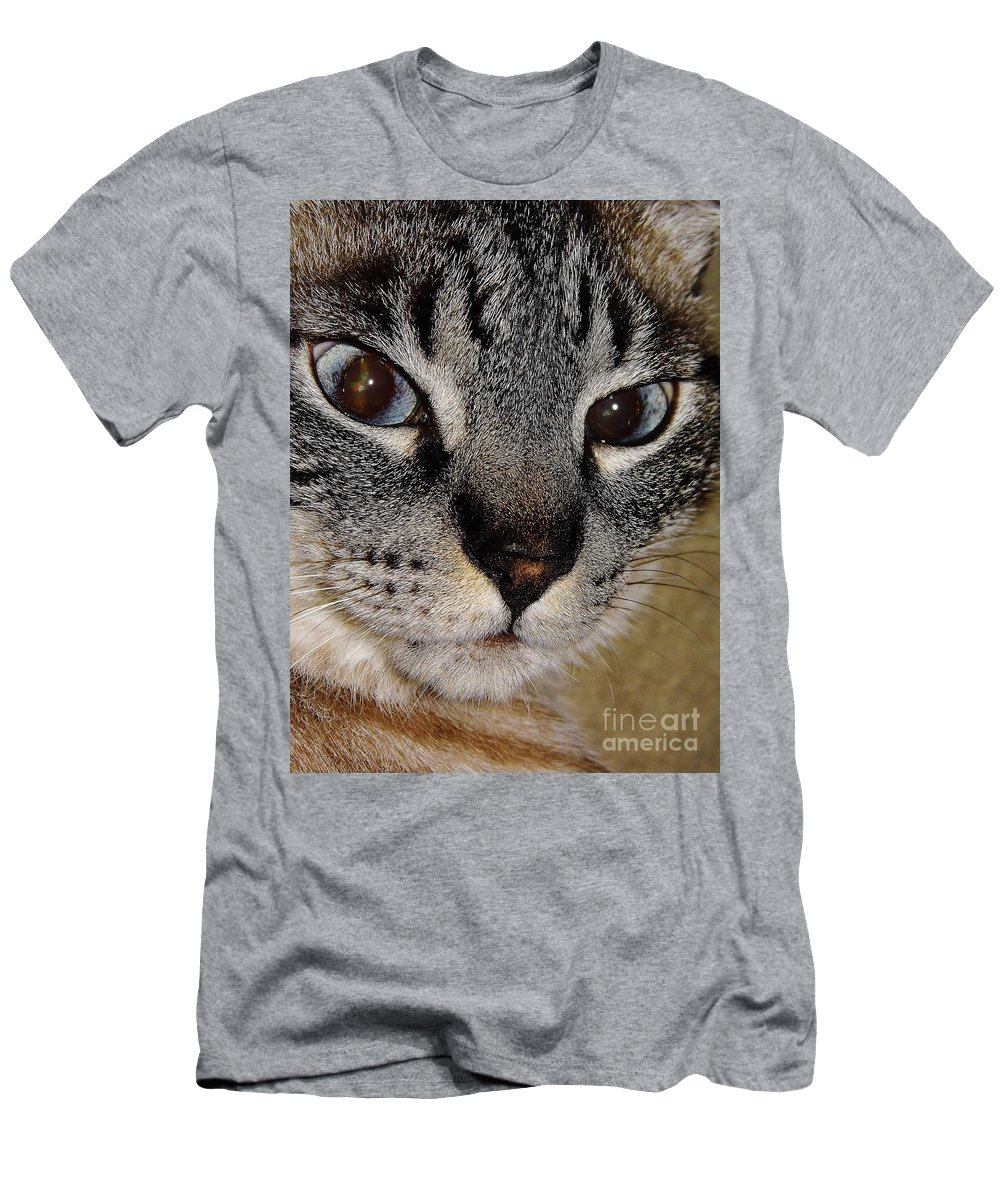 Bestseller Men's T-Shirt (Athletic Fit) featuring the photograph Cat - Sweet - Boy by D Hackett
