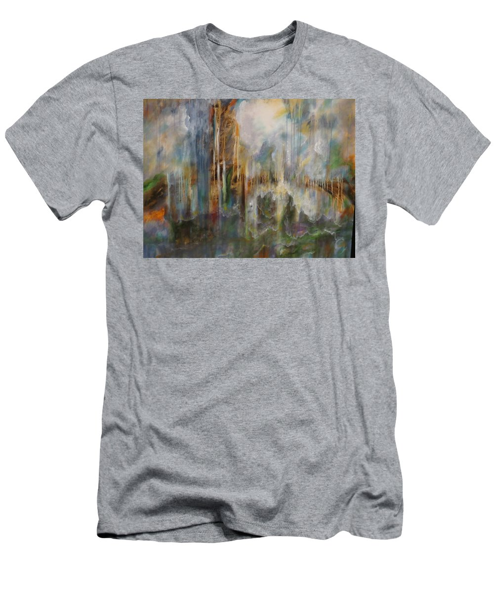 Large Men's T-Shirt (Athletic Fit) featuring the painting Swept Away by Soraya Silvestri
