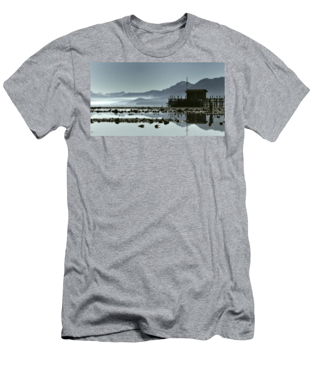 Lake Tahoe Men's T-Shirt (Athletic Fit) featuring the photograph Tahoe Blue by Ron White