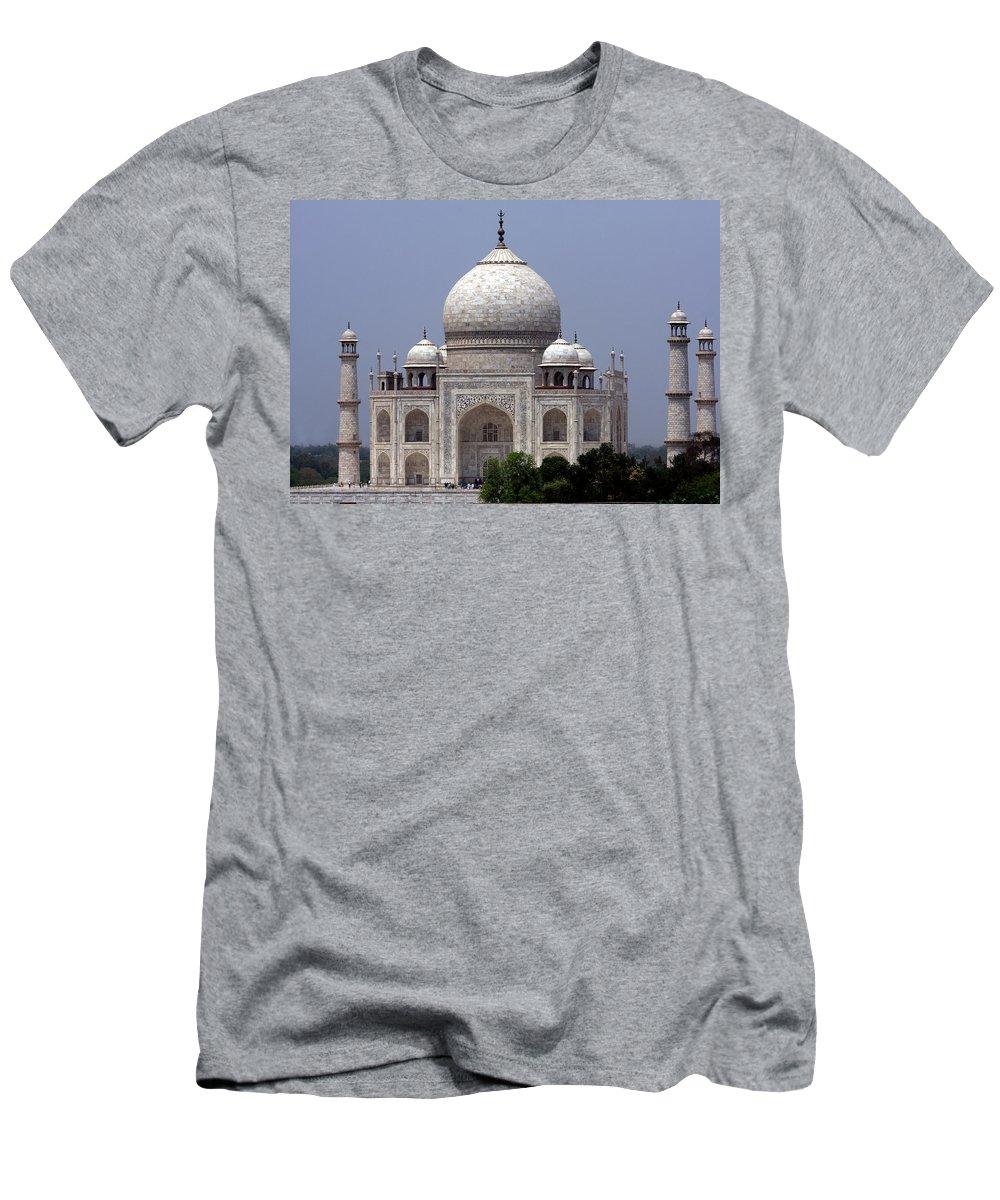 Taj Mahal Men's T-Shirt (Athletic Fit) featuring the photograph Taj Mahal - Agra - India by Aidan Moran