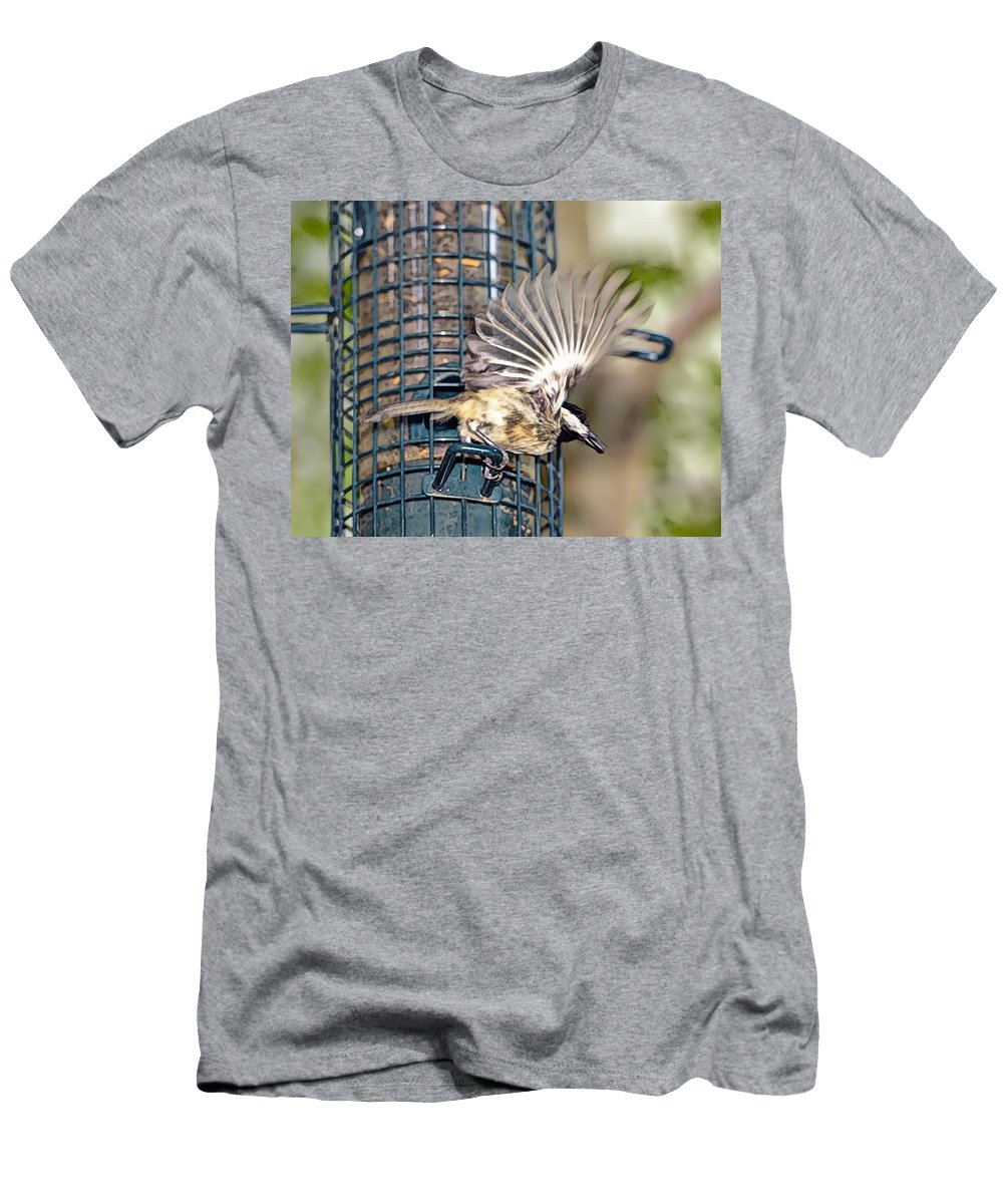 Digital Men's T-Shirt (Athletic Fit) featuring the photograph Take Out Meal by Susan Leggett