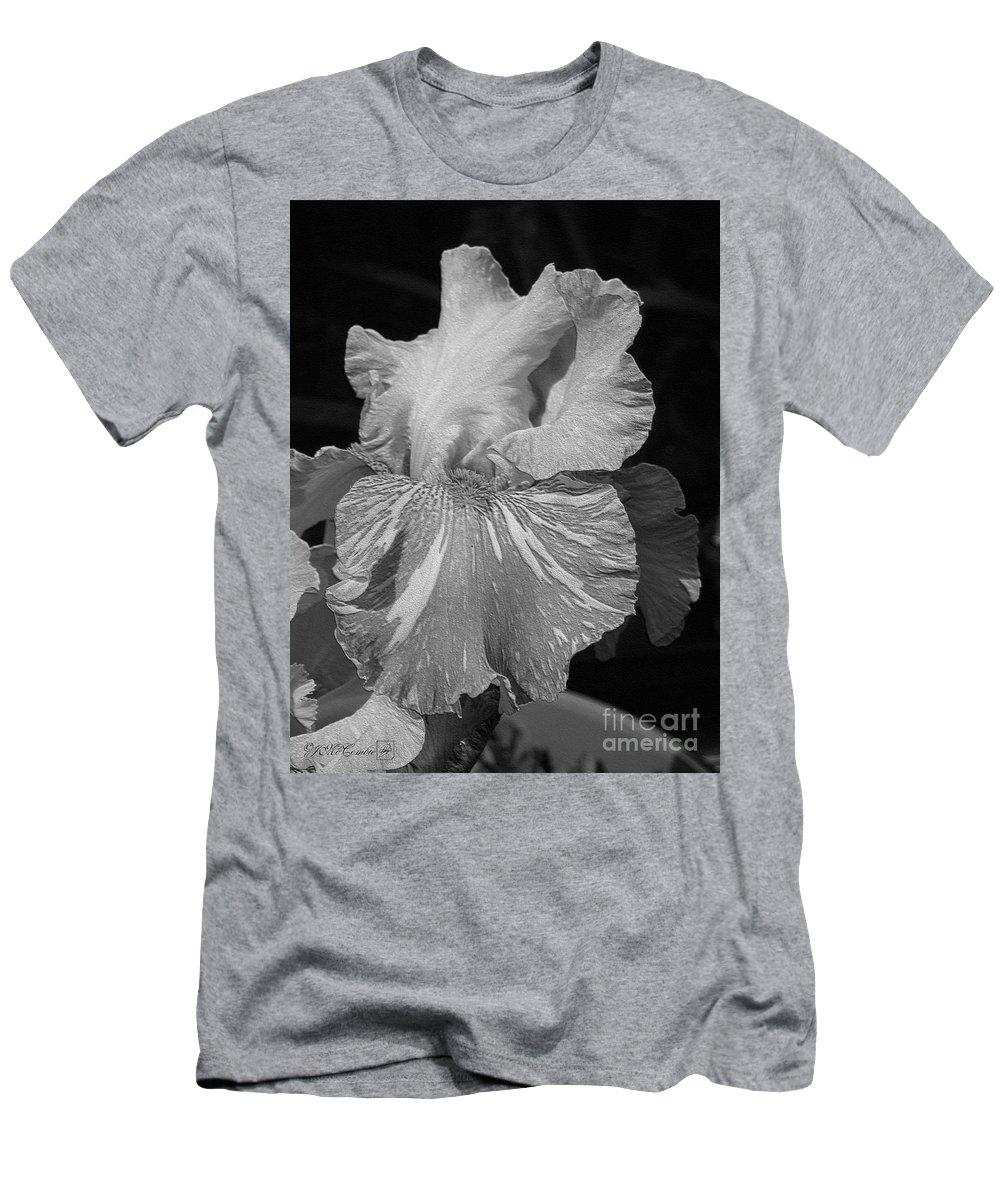 Mccombie Men's T-Shirt (Athletic Fit) featuring the digital art Tall Bearded Iris Named Saharan Sun by J McCombie