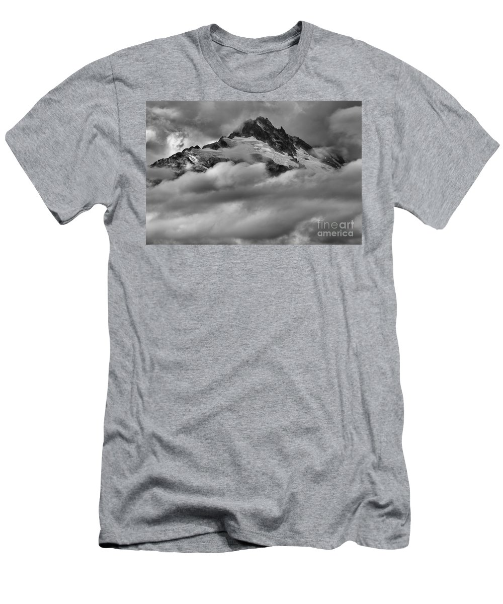 Glacier Mountains Men's T-Shirt (Athletic Fit) featuring the photograph Tantalus Mountain Range - Squamish British Columbia by Adam Jewell