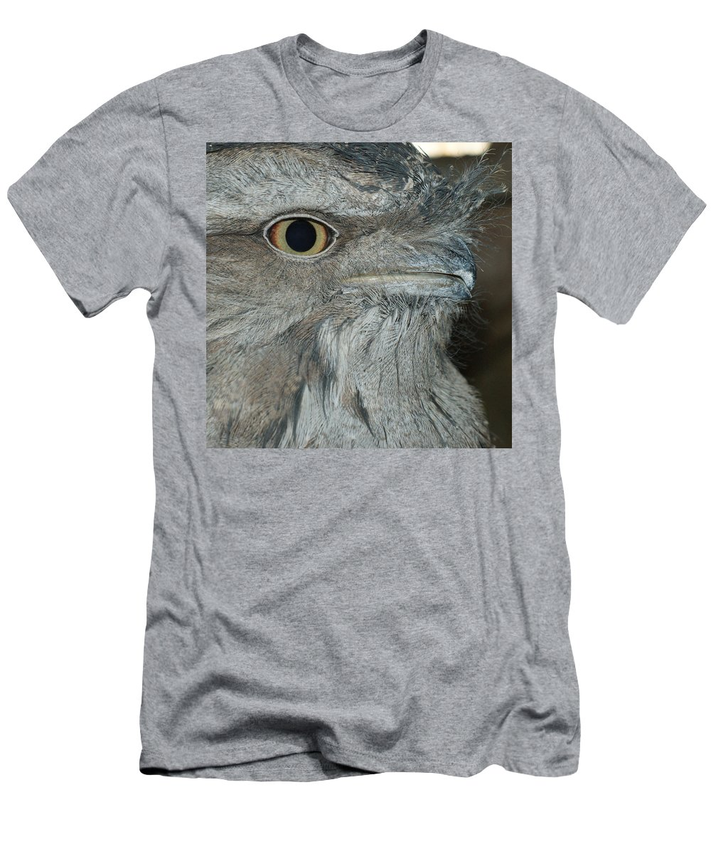 Tawny Frogmouth Men's T-Shirt (Athletic Fit) featuring the photograph Tawny Frogmouth by Ernie Echols