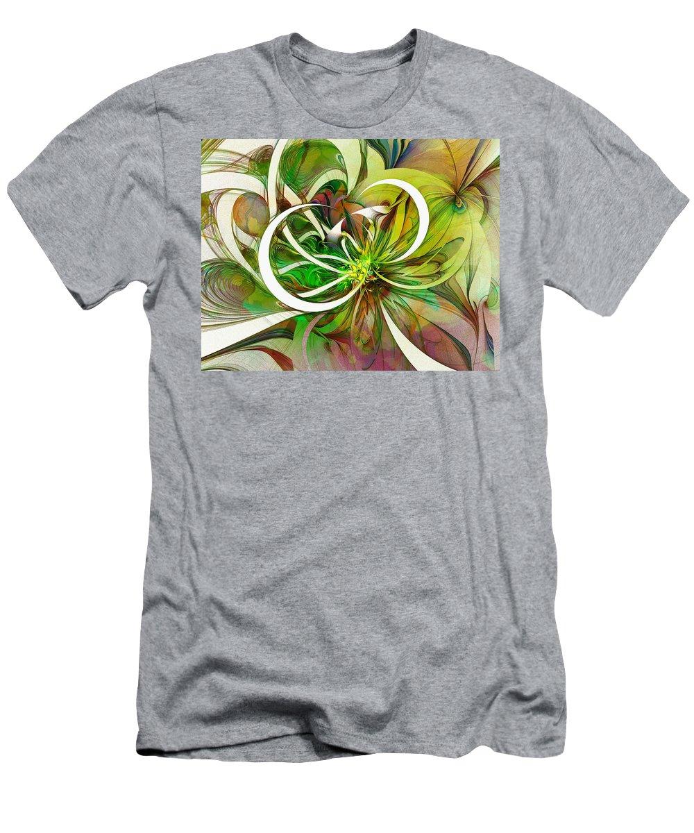 Digital Art Men's T-Shirt (Athletic Fit) featuring the digital art Tendrils 15 by Amanda Moore