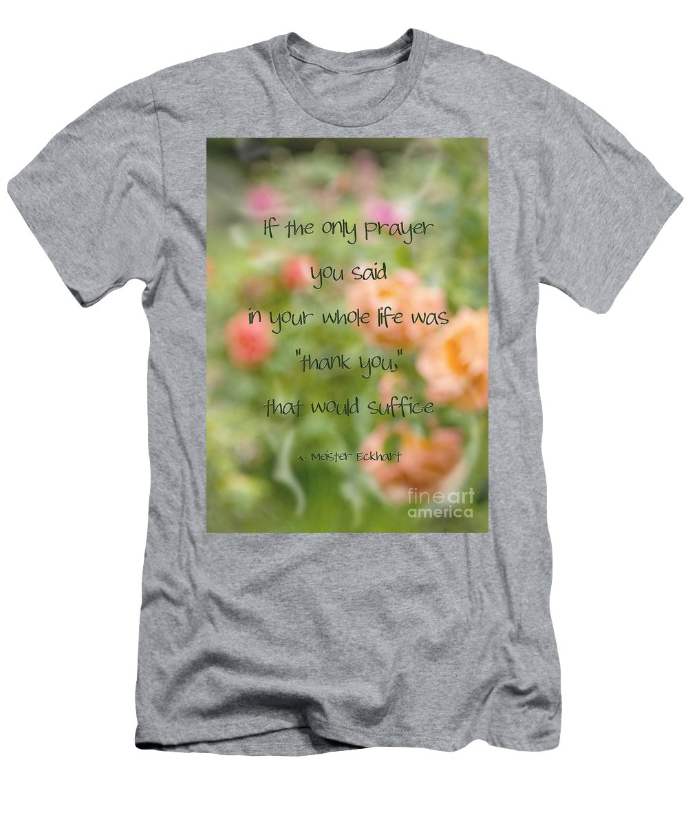 Thank You Men's T-Shirt (Athletic Fit) featuring the photograph Thank You by Peggy Hughes