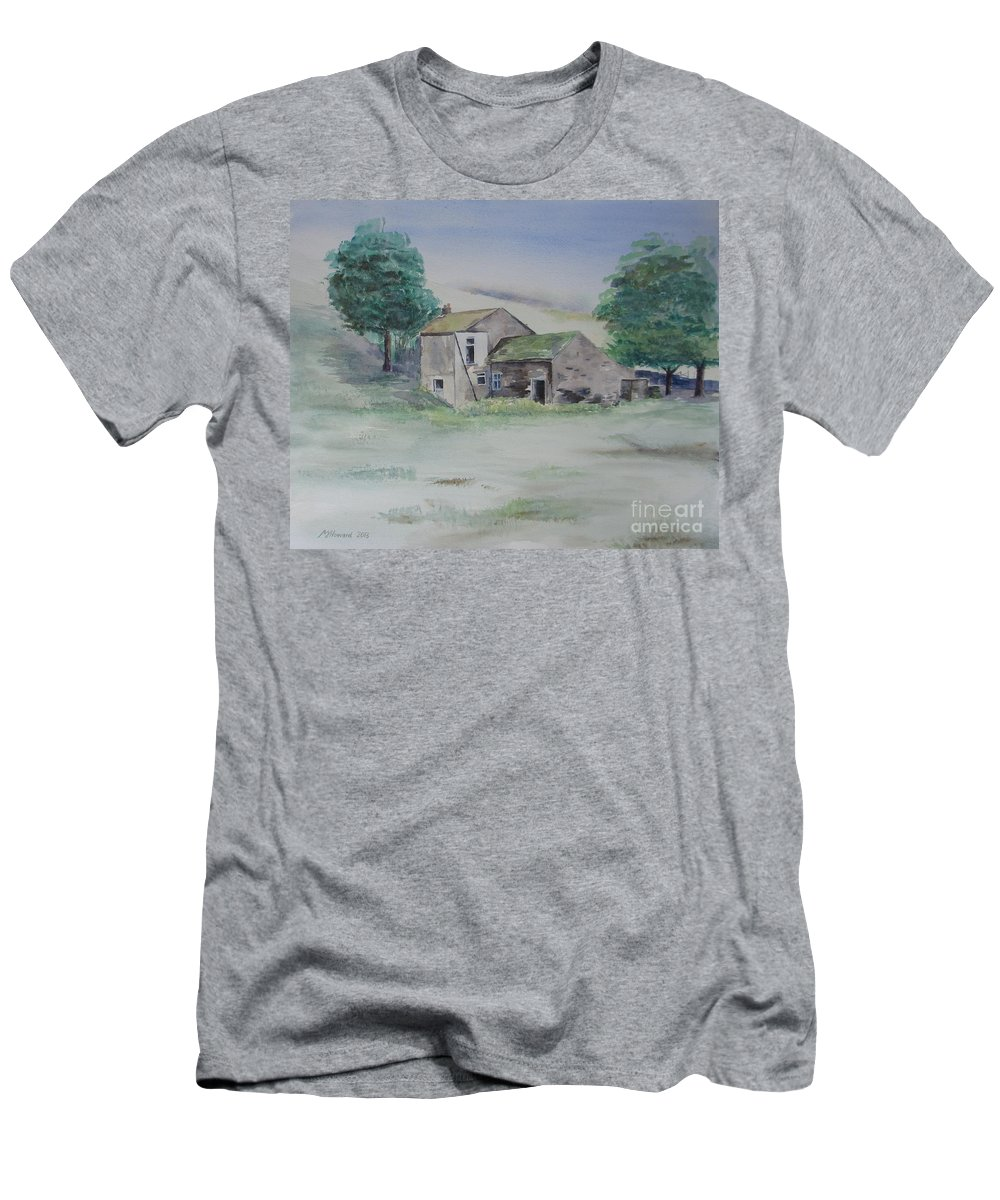 Abandoned Men's T-Shirt (Athletic Fit) featuring the painting The Abandoned House by Martin Howard