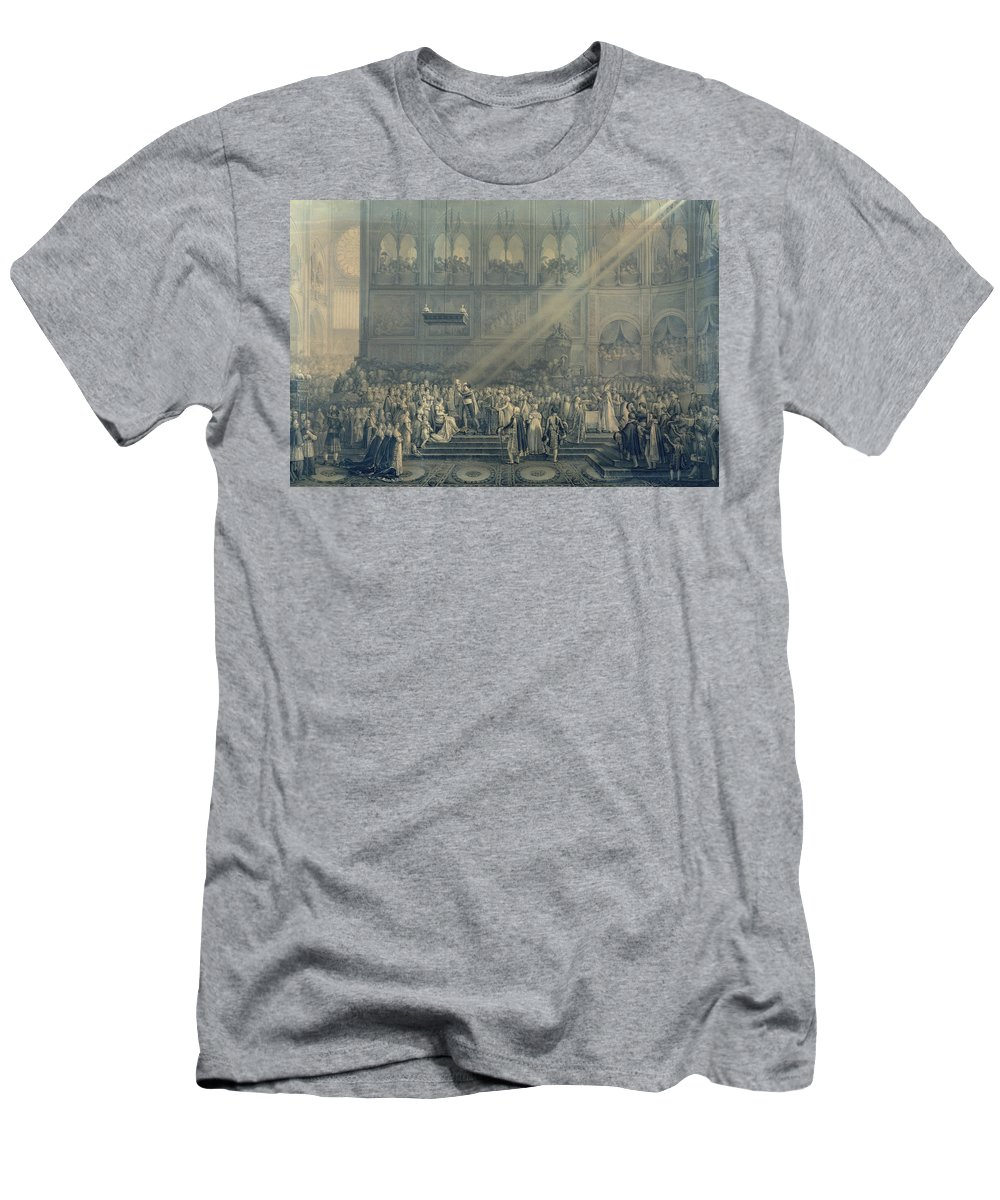 Cathedral Men's T-Shirt (Athletic Fit) featuring the photograph The Baptism Of The King Of Rome 1811-32 At Notre-dame, 10th June 1811, After 1811 Engraving by French School