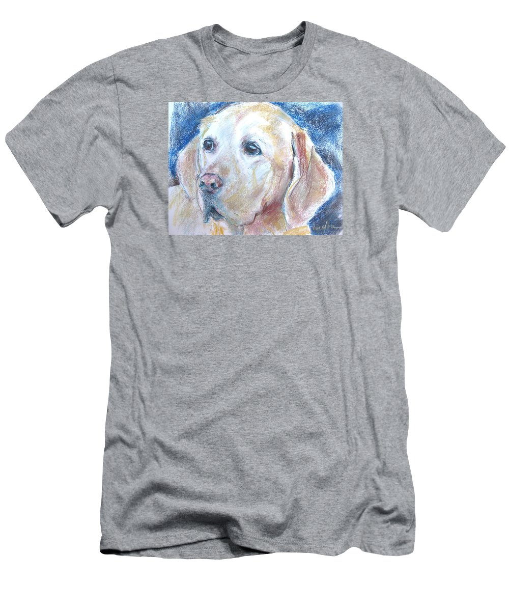 Dog Men's T-Shirt (Athletic Fit) featuring the drawing The Best Pal by Indra Singh