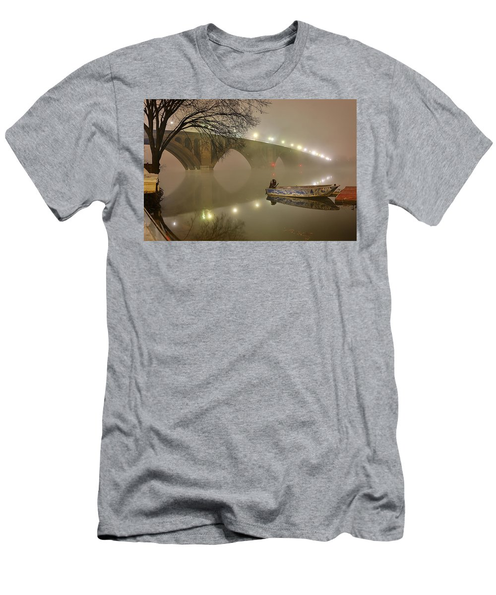 Metro Men's T-Shirt (Athletic Fit) featuring the photograph The Bridge To Nowhere by Metro DC Photography