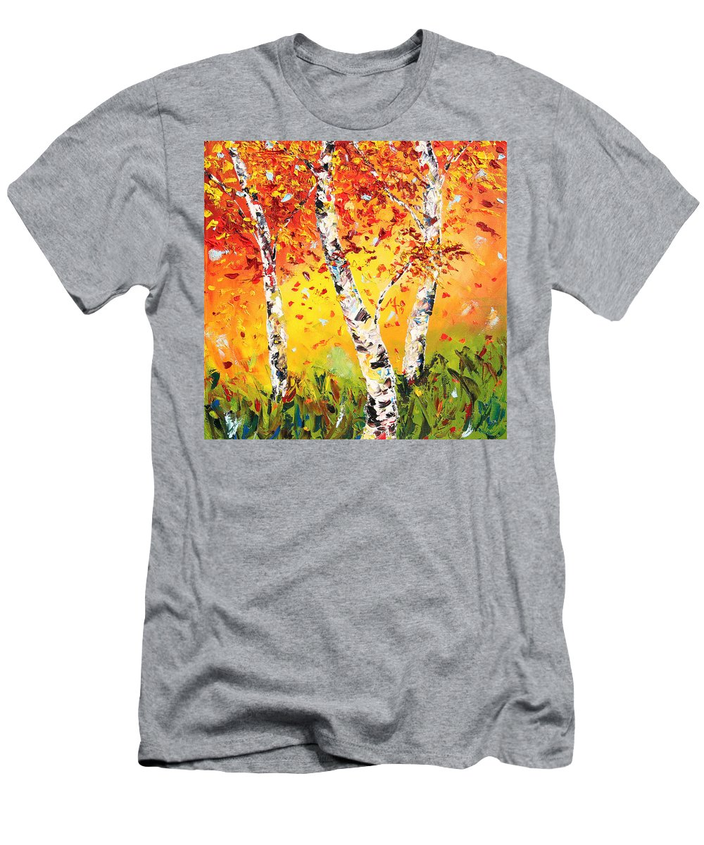 Autumn T-Shirt featuring the painting The Change by Meaghan Troup