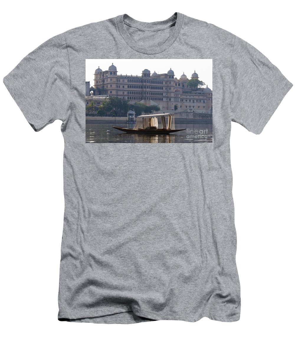 Asia Men's T-Shirt (Athletic Fit) featuring the photograph The City Palace, India by John Shaw