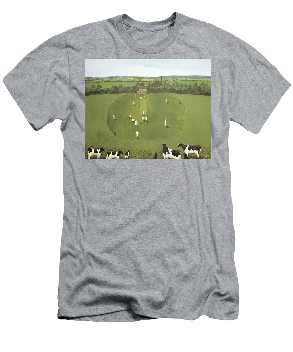 Contemporary Men's T-Shirt (Athletic Fit) featuring the photograph The Cricket Match by Maggie Rowe