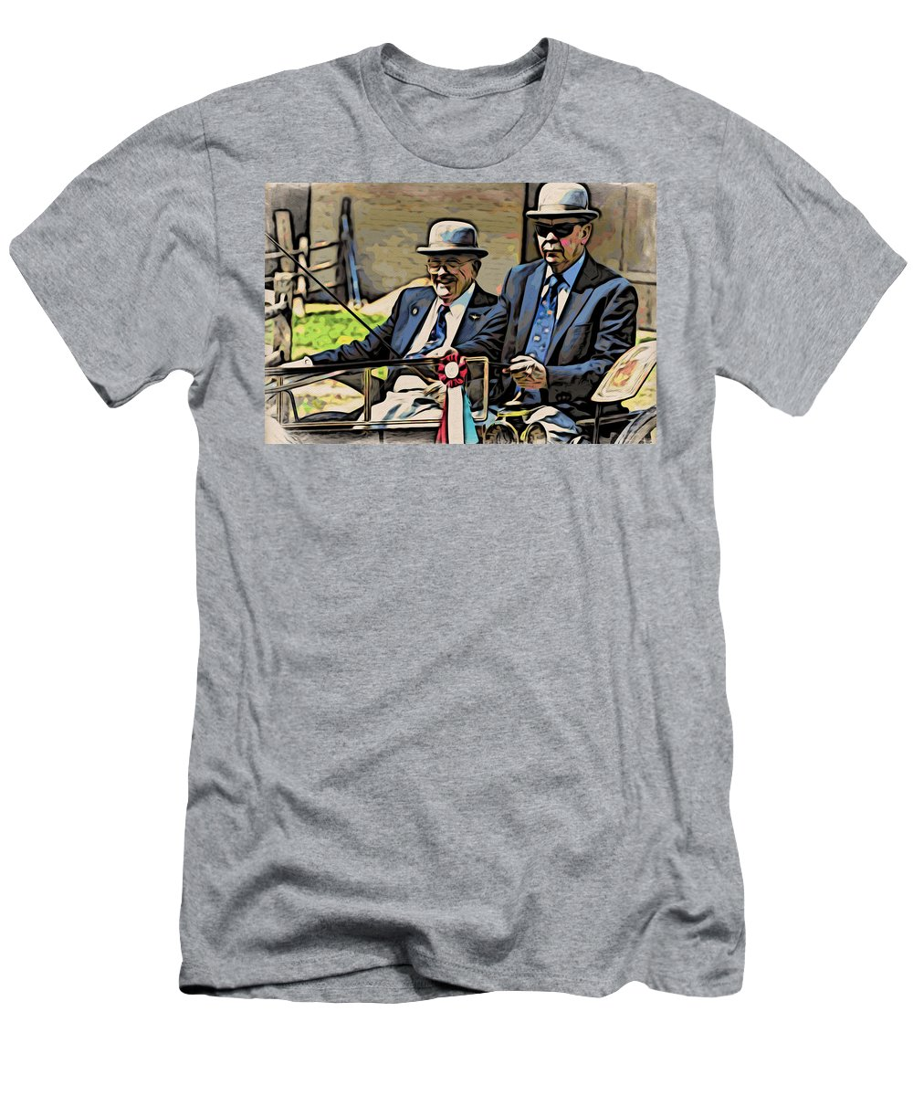 Drivers Men's T-Shirt (Athletic Fit) featuring the photograph The Drivers by Alice Gipson