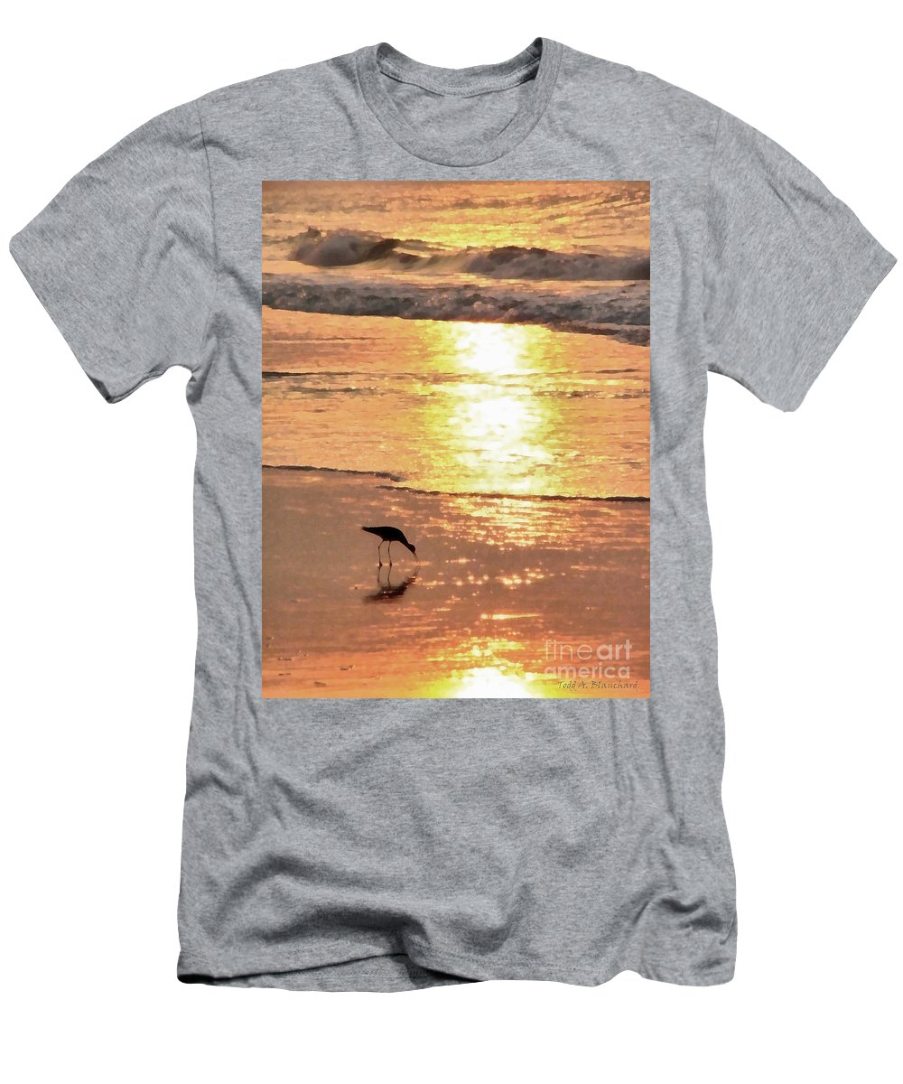 Landscape Men's T-Shirt (Athletic Fit) featuring the photograph The Early Bird by Todd Blanchard