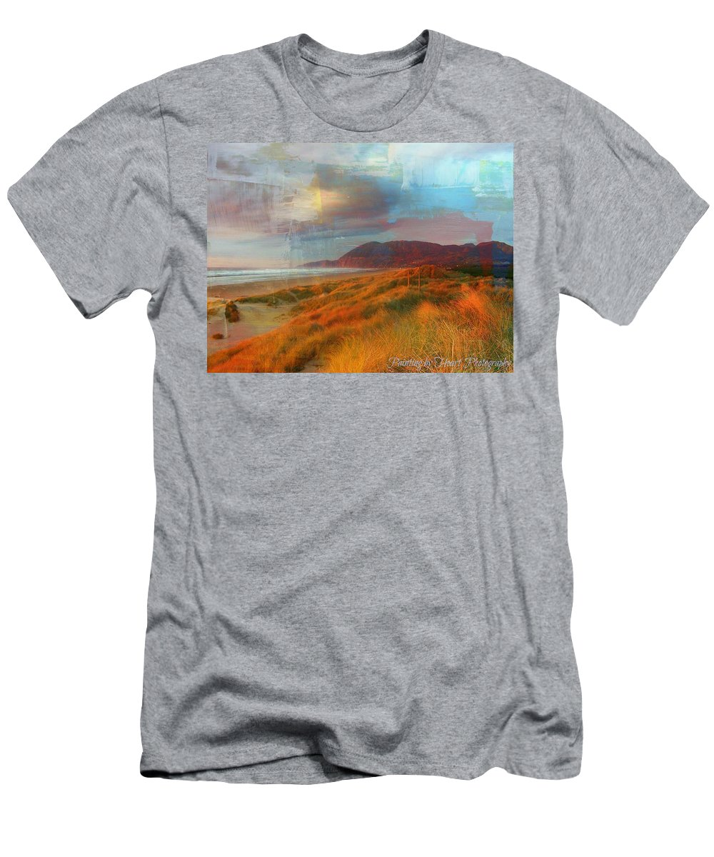 Nature Men's T-Shirt (Athletic Fit) featuring the photograph The Elk Trail by Deahn   Benware