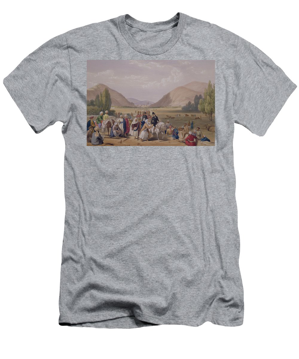 Kabul Men's T-Shirt (Athletic Fit) featuring the drawing The Entrance Into Caubul by James Atkinson