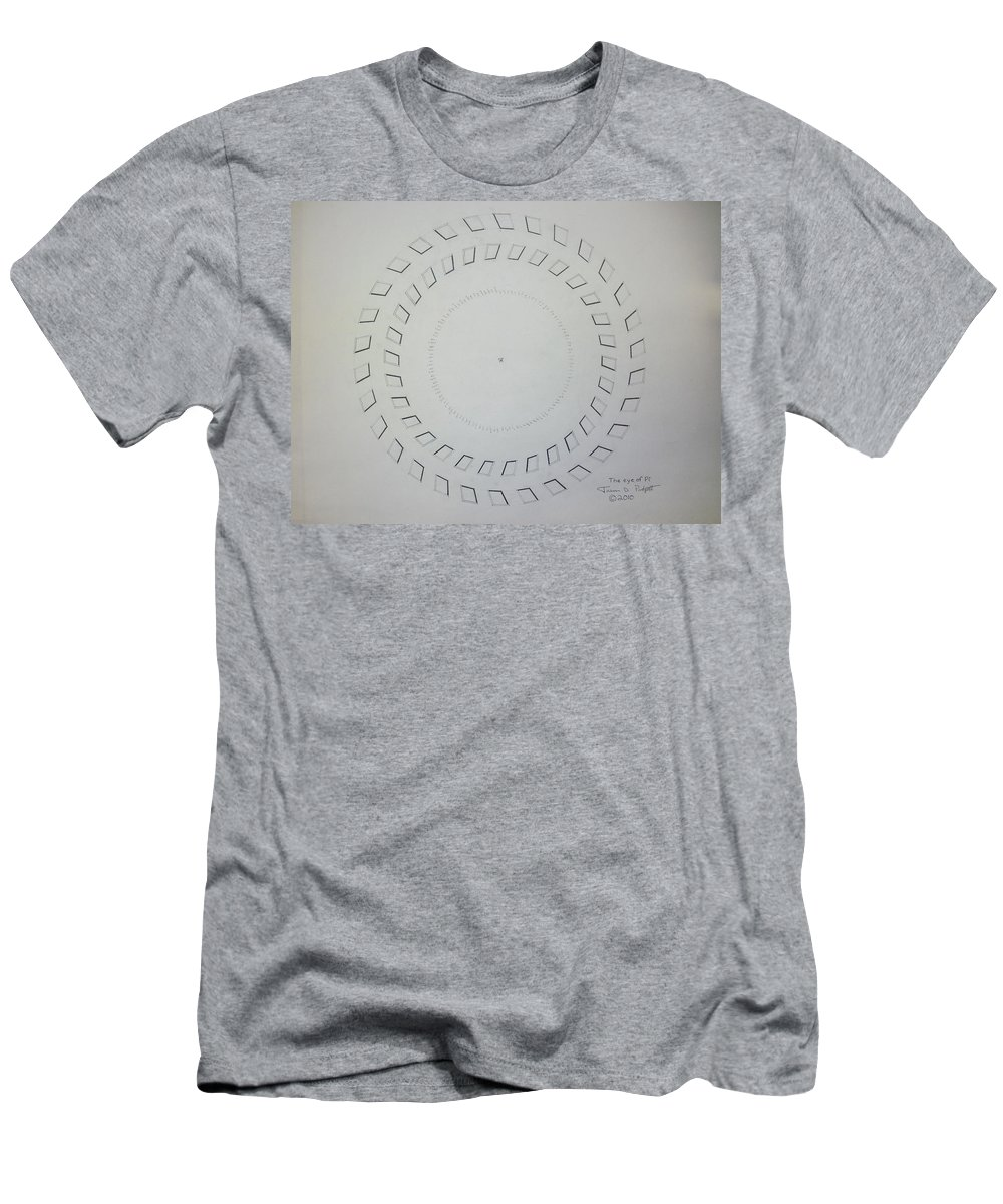 Pi Men's T-Shirt (Athletic Fit) featuring the drawing The Eye Of Pi by Jason Padgett