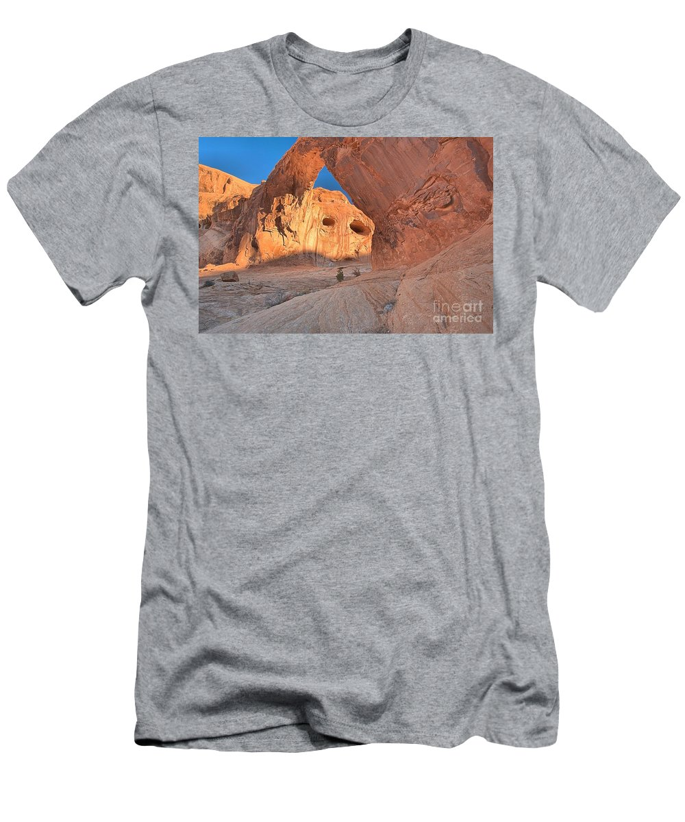 Corona Arch Men's T-Shirt (Athletic Fit) featuring the photograph The Eyes Of Corona by Adam Jewell