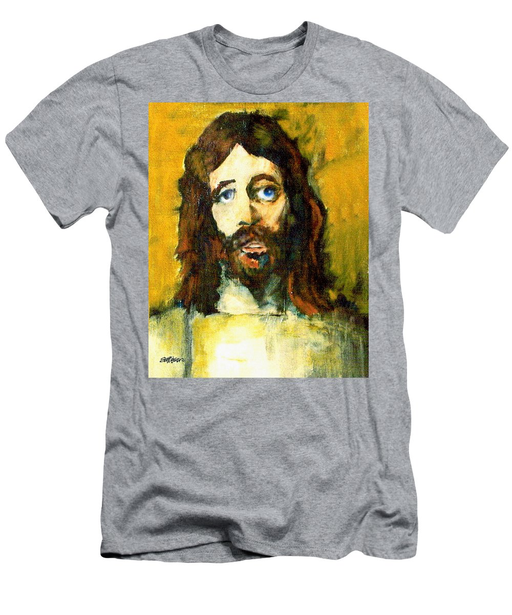 Jesus Christ Men's T-Shirt (Athletic Fit) featuring the painting The Galilean by Seth Weaver