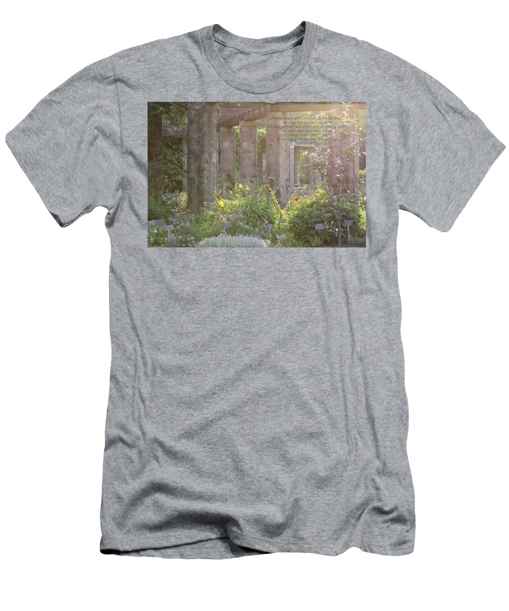 Nature Men's T-Shirt (Athletic Fit) featuring the photograph The Gardens by Debbie Nobile