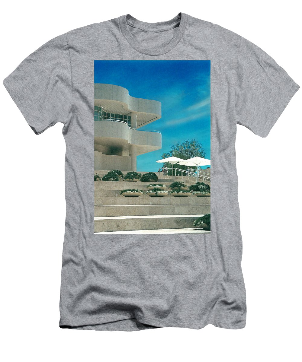 Landscape Men's T-Shirt (Athletic Fit) featuring the photograph The Getty Panel 1 by Steve Karol