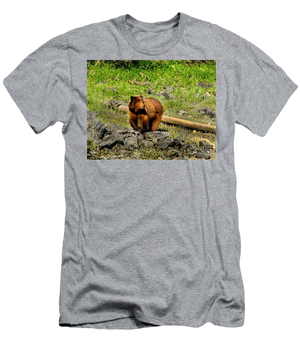 Bear Men's T-Shirt (Athletic Fit) featuring the photograph The Grizzly by Robert Bales