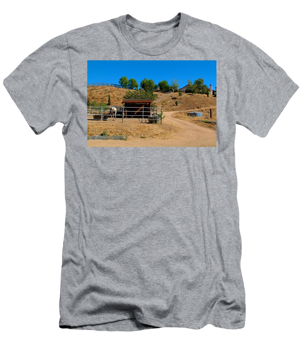 Horse Men's T-Shirt (Athletic Fit) featuring the photograph The Horse Ranch 2 by Richard J Cassato