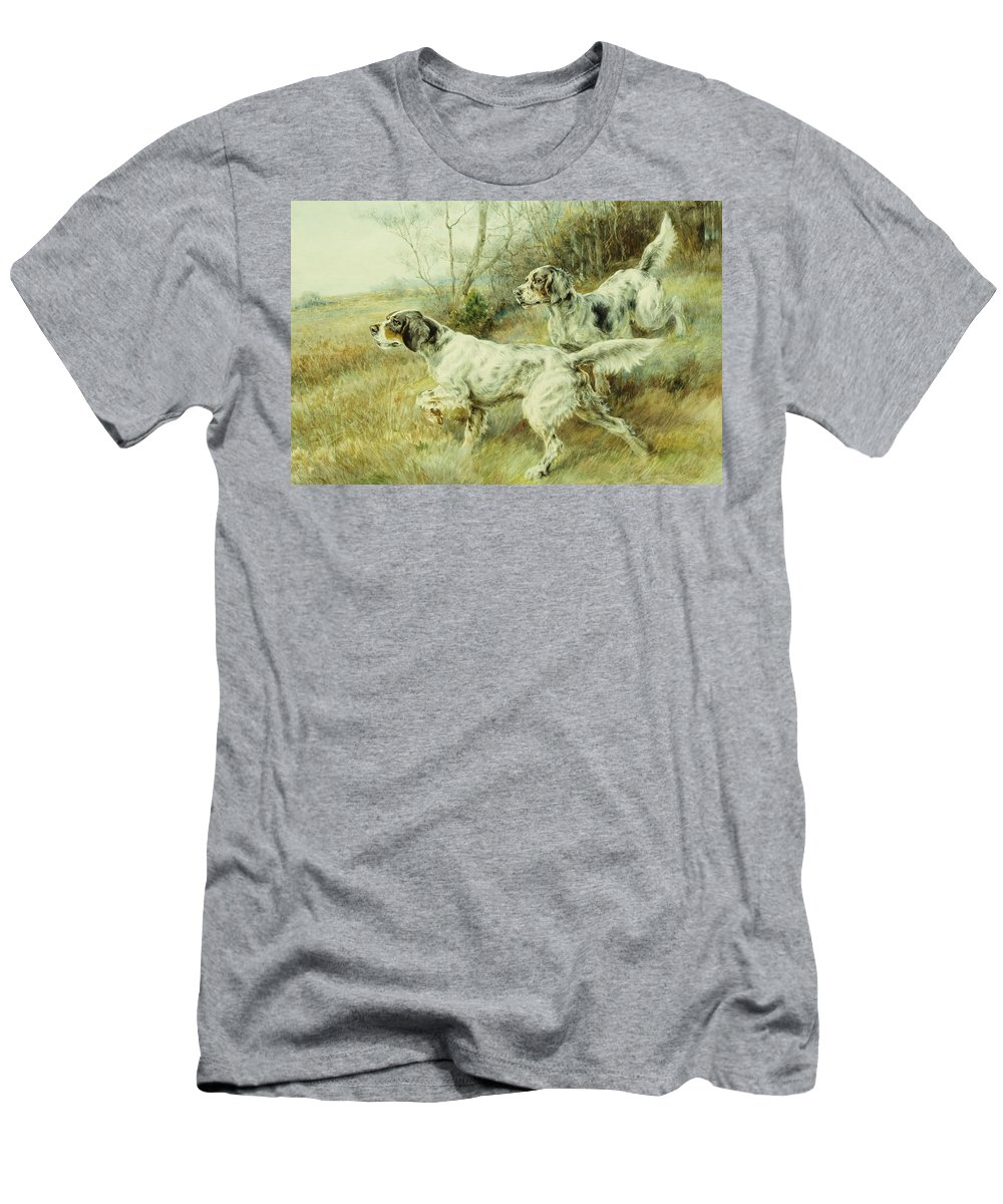 Alert Men's T-Shirt (Athletic Fit) featuring the painting The Hunt by Edmund Henry Osthaus