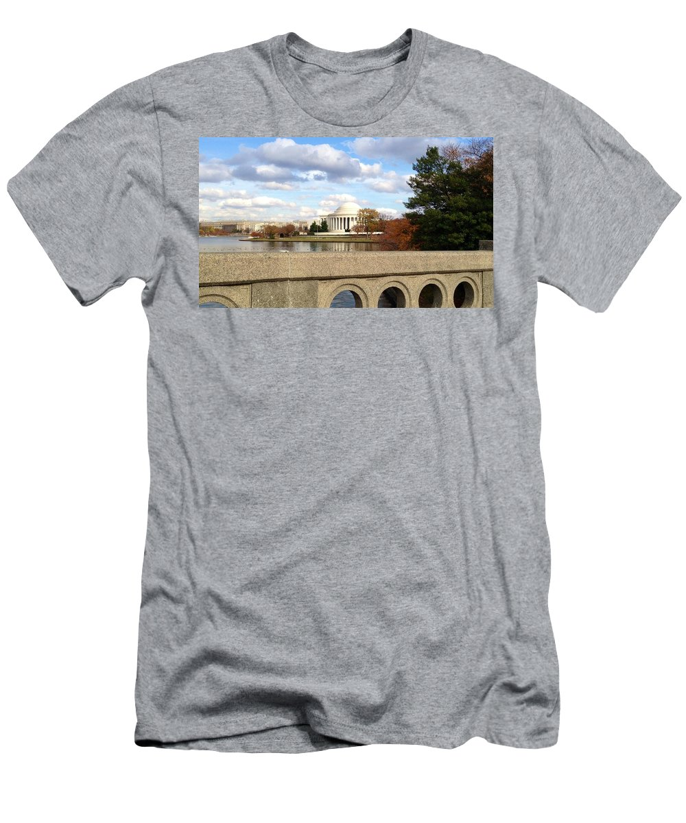 Jefferson Memorial Men's T-Shirt (Athletic Fit) featuring the photograph The Jefferson Memorial by Lois Ivancin Tavaf