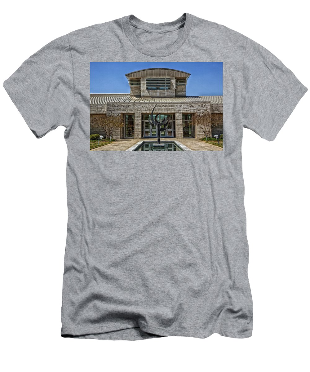 Auburn University Men's T-Shirt (Athletic Fit) featuring the photograph The Jule Collins Smith Museum Of Fine Art by Mountain Dreams