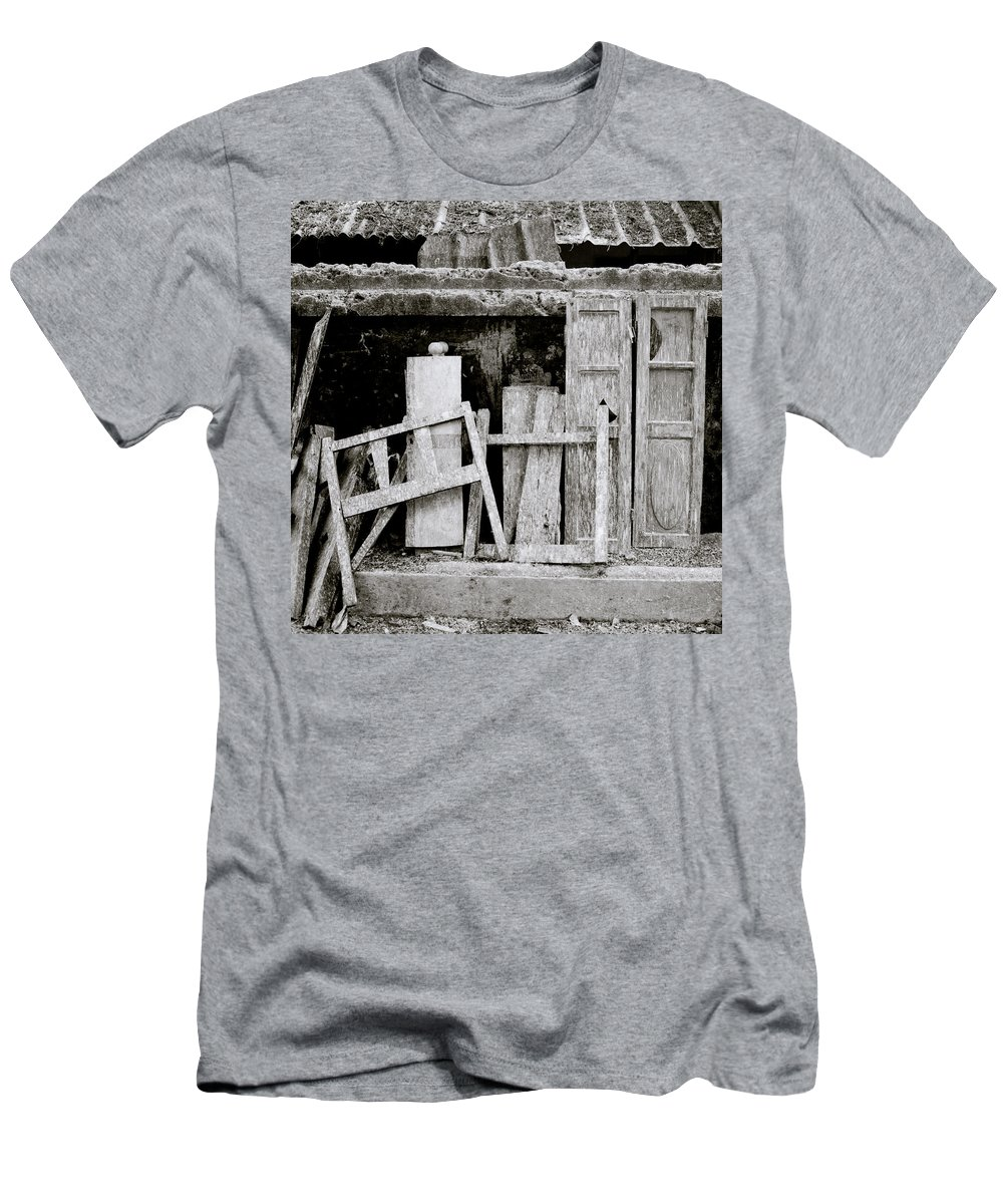 Still Life Men's T-Shirt (Athletic Fit) featuring the photograph Urban Junk by Shaun Higson