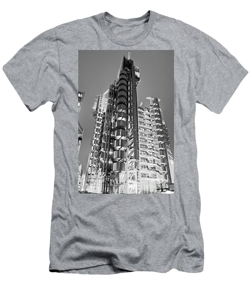 Architecture Men's T-Shirt (Athletic Fit) featuring the photograph The Lloyd's Building - London by Luciano Mortula