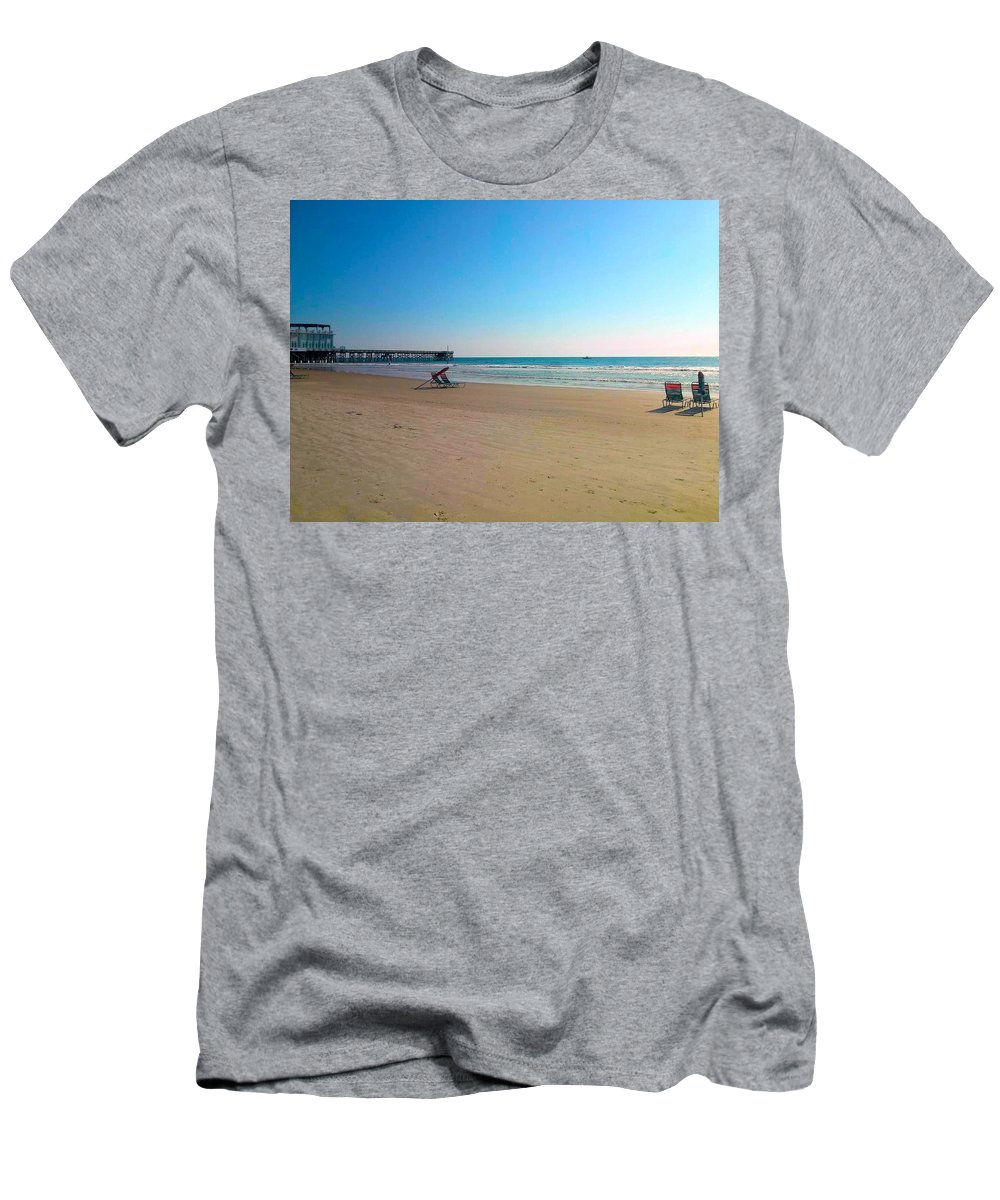 Ocean Men's T-Shirt (Athletic Fit) featuring the photograph The Morning After by Kimberlee Marvin