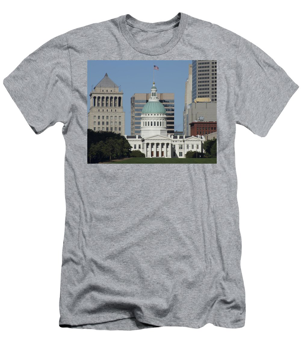 St Louis Men's T-Shirt (Athletic Fit) featuring the photograph The Old Federal Courthouse St Louis by Garry McMichael