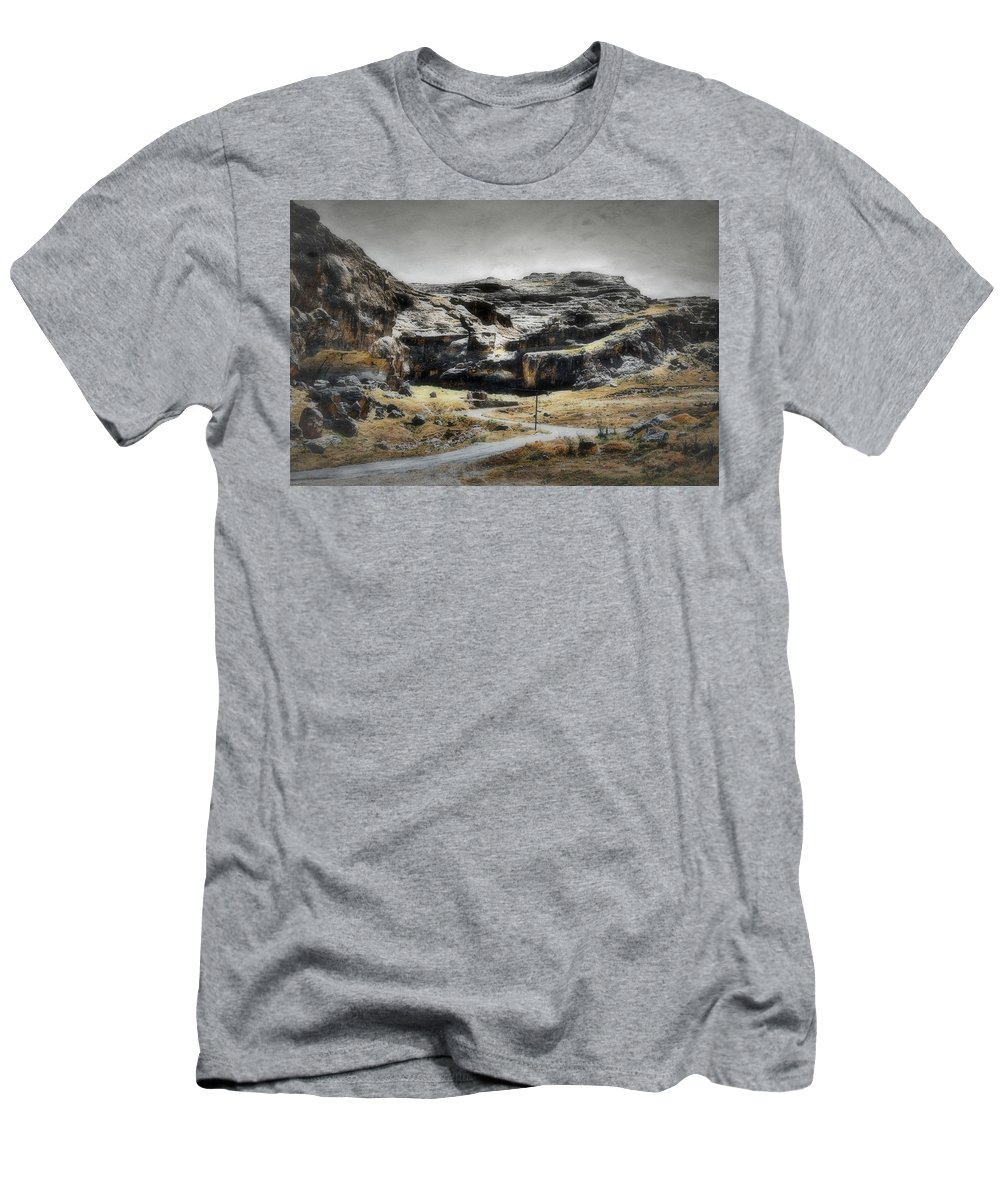 Antique Men's T-Shirt (Athletic Fit) featuring the photograph The Old Road by Rabiri Us