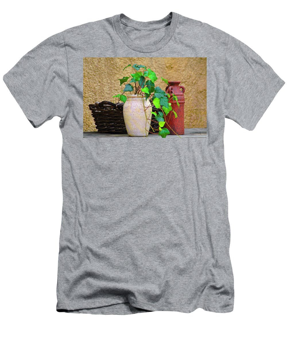 Vase Men's T-Shirt (Athletic Fit) featuring the photograph The Old Times by Carolyn Marshall