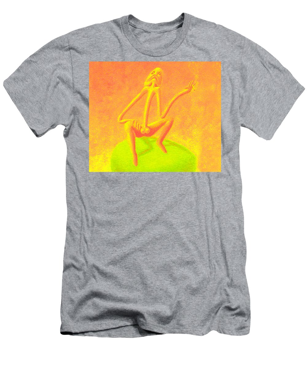 Genio Men's T-Shirt (Athletic Fit) featuring the mixed media The Philosopher by Genio GgXpress
