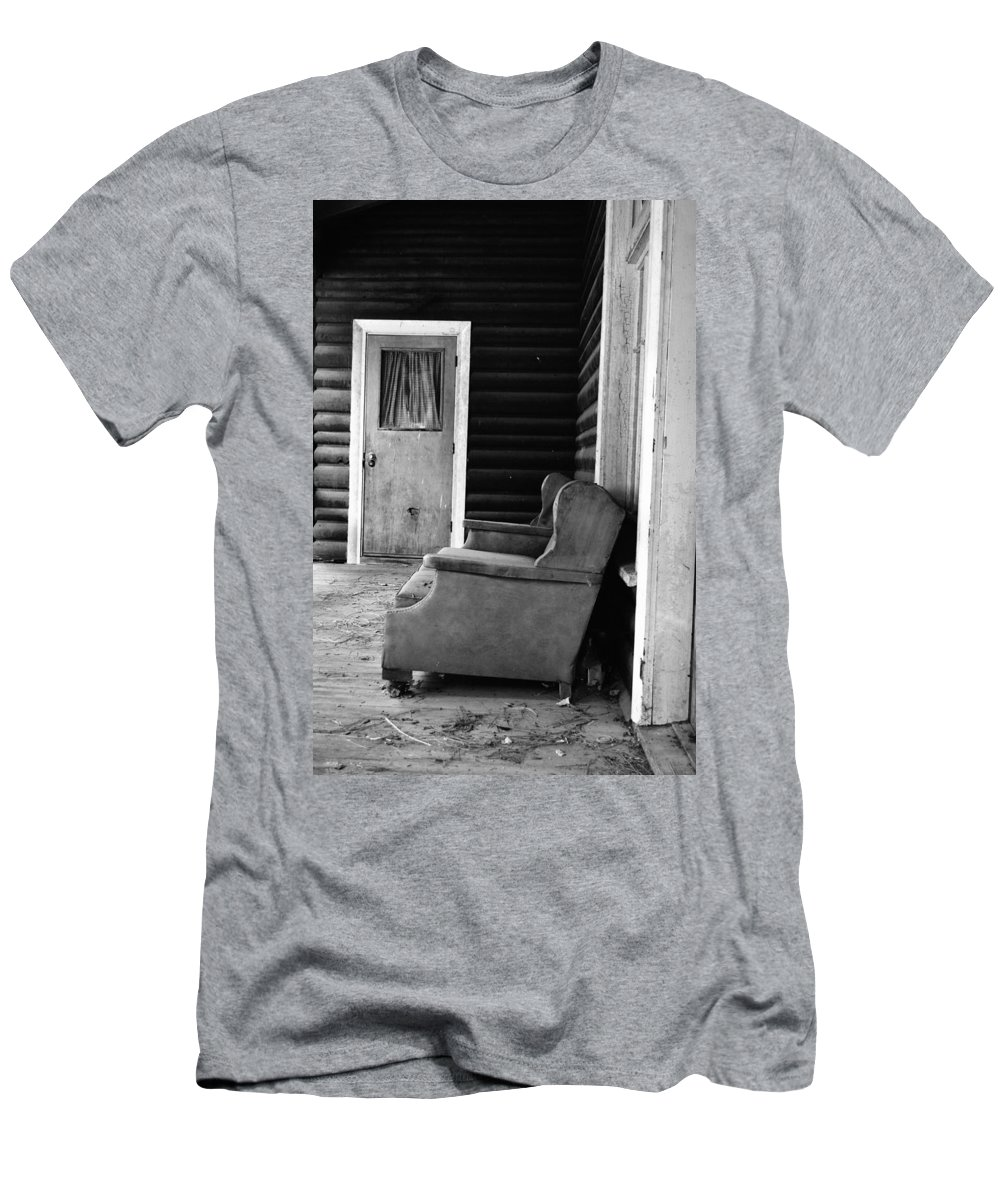 Porch Men's T-Shirt (Athletic Fit) featuring the photograph The Porch by Holly Blunkall