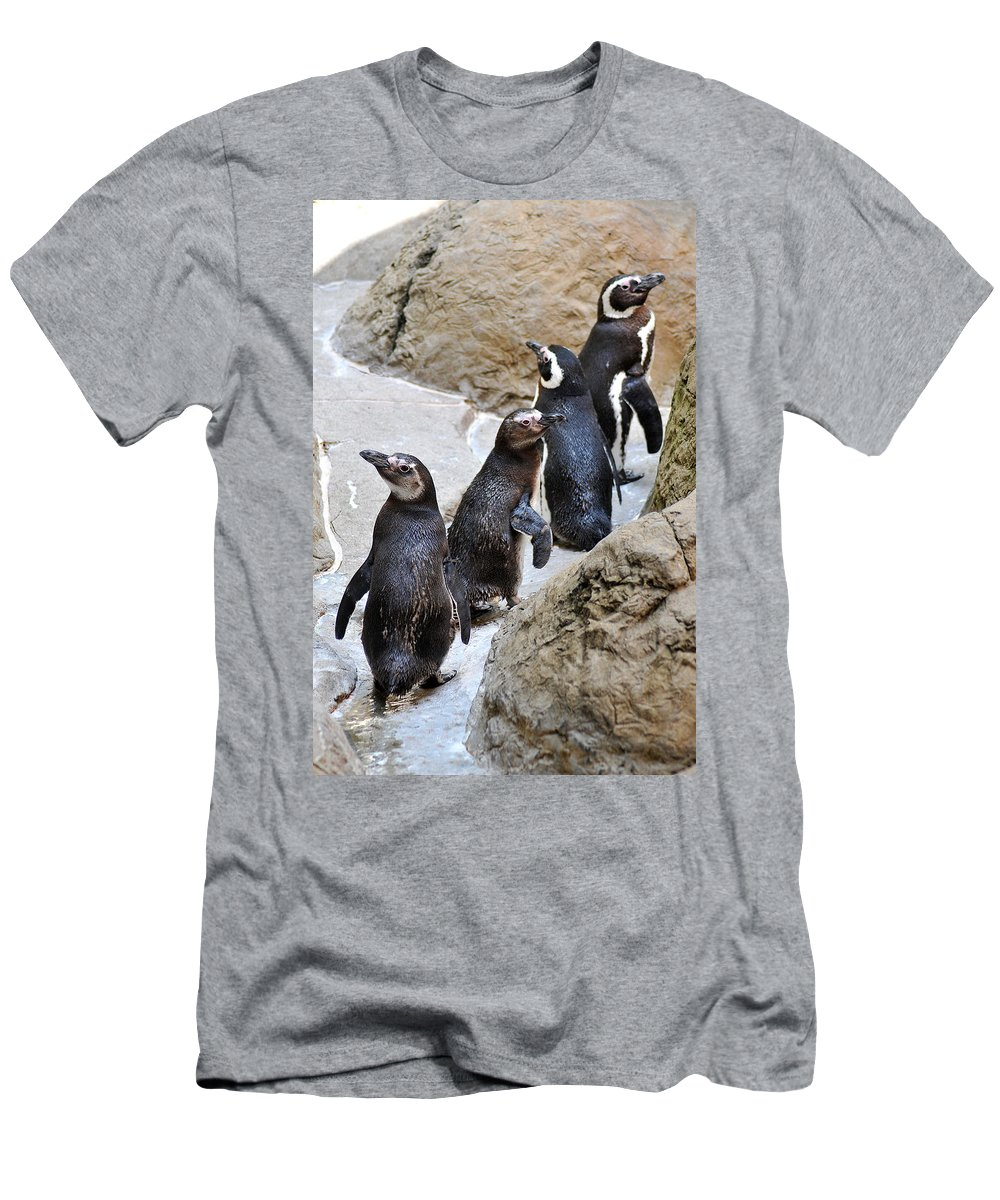 Queue Men's T-Shirt (Athletic Fit) featuring the photograph The Queue by Gene Tatroe