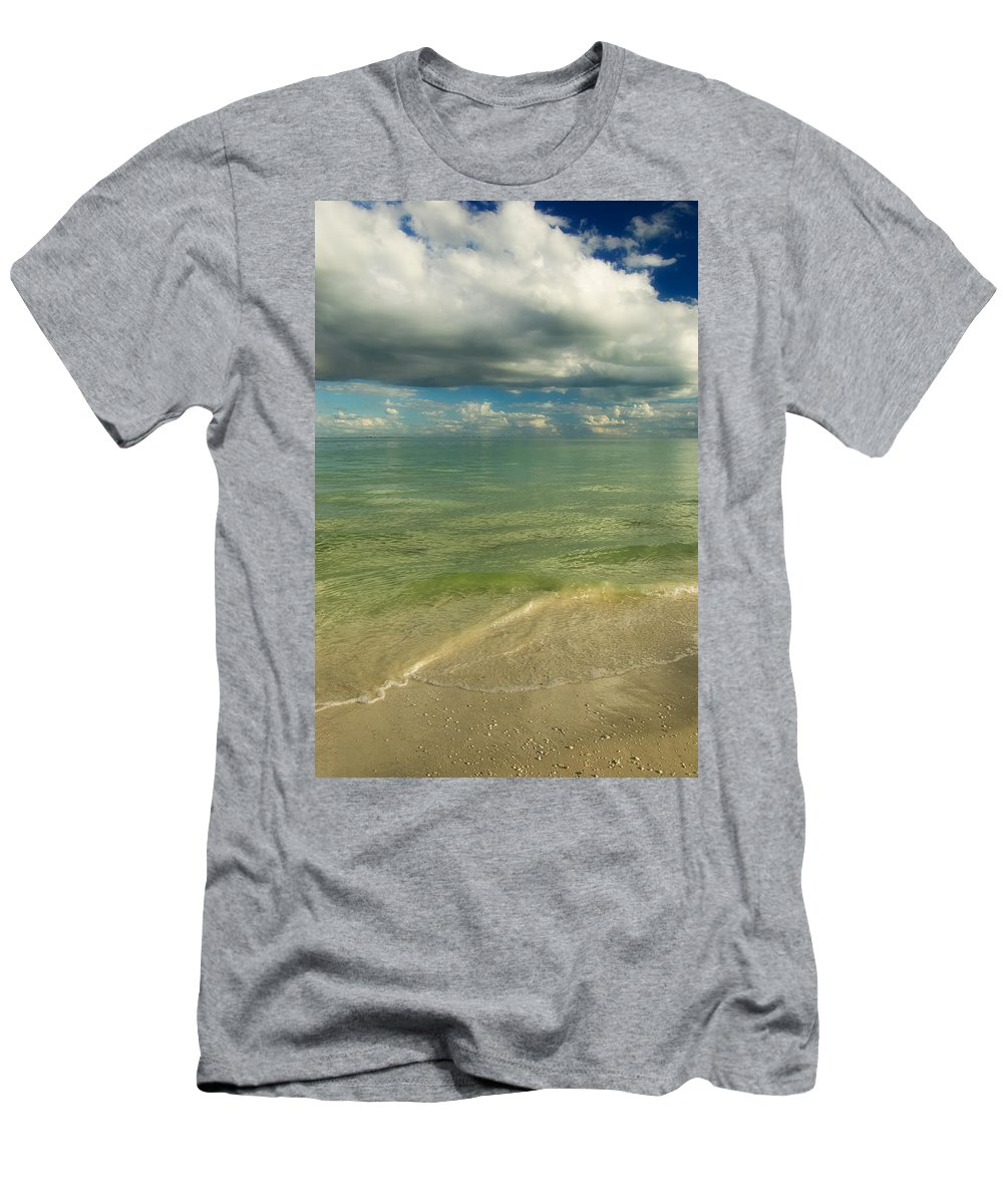 Amazing Men's T-Shirt (Athletic Fit) featuring the photograph The Sea And The Sky by Rich Leighton