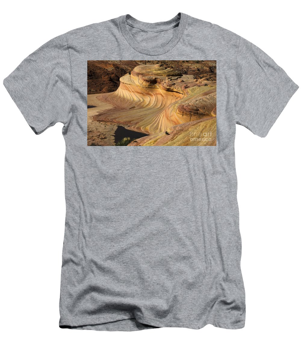 The Second Wave Men's T-Shirt (Athletic Fit) featuring the photograph The Second Wave Arizona 3 by Bob Christopher