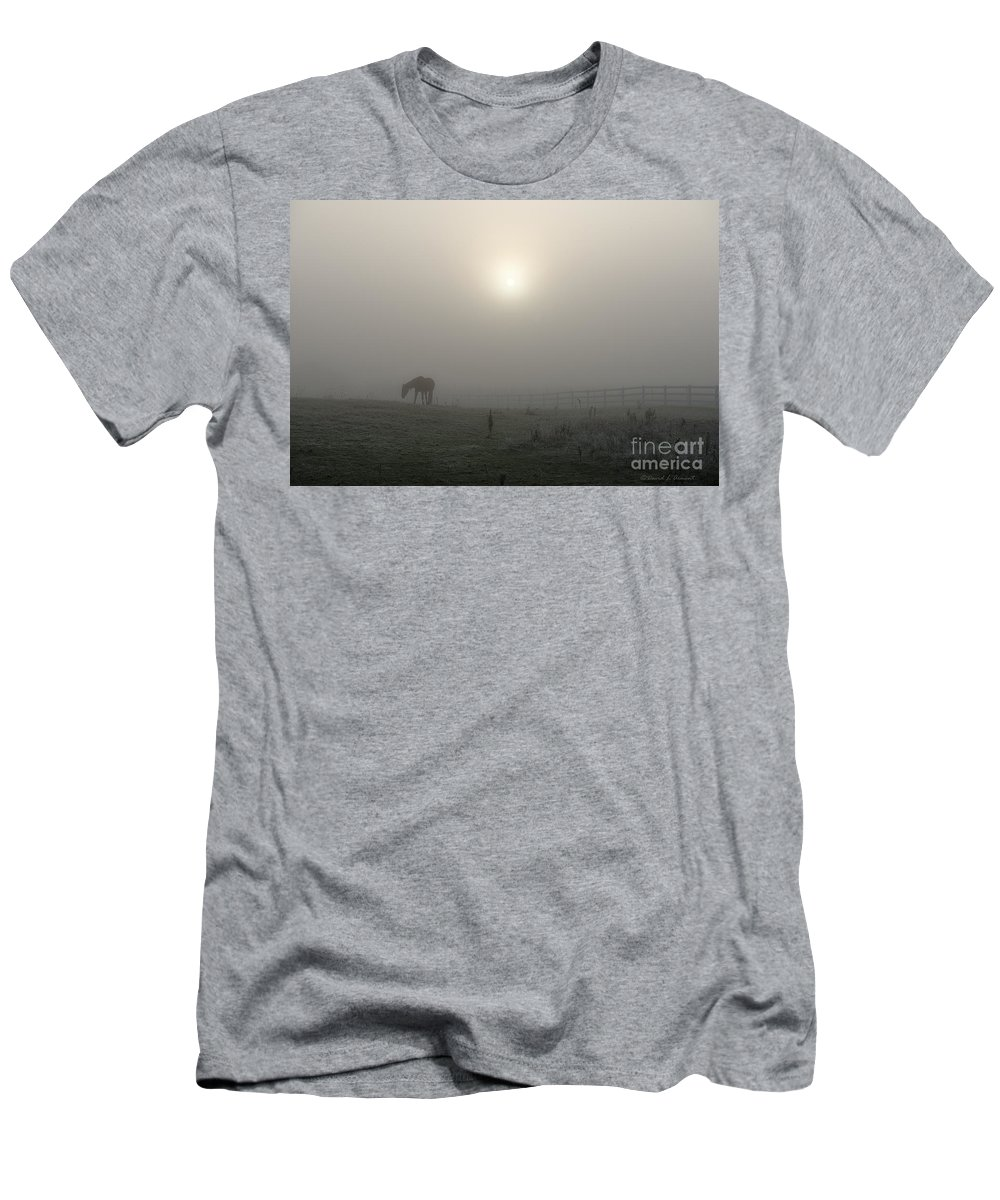 Horse Men's T-Shirt (Athletic Fit) featuring the photograph The Space Between Earth And Time by David Arment