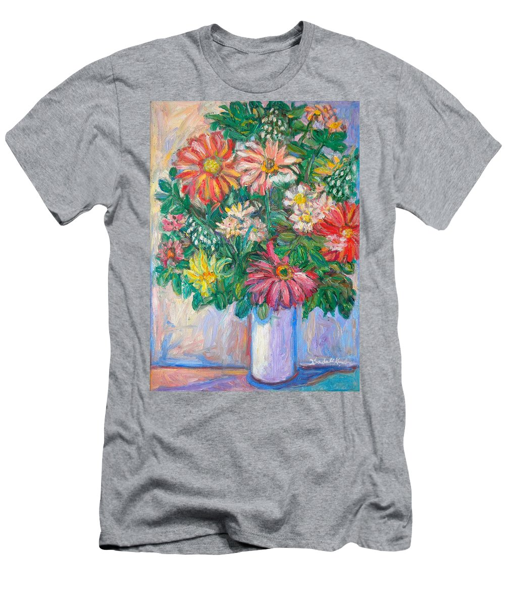 Still Life Men's T-Shirt (Athletic Fit) featuring the painting The White Vase by Kendall Kessler